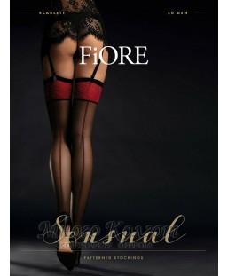 Чулки под пояс Fiore Sensual Scarlett 20 den