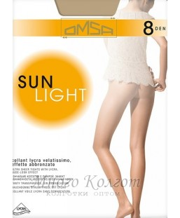 Тонкие чулки OMSA Sun Light 8 autoreggente