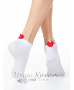 Хлопковые короткие носки Conte сердечком 20С-18СП-221