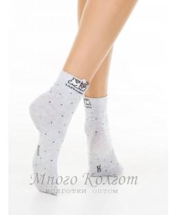 Хлопковые носки Conte Classic с пикотом «Puppy»