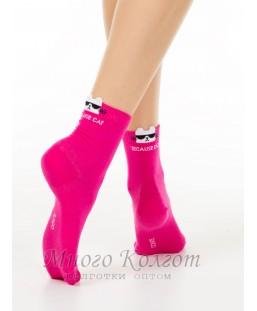 Хлопковые носки Conte Classic с пикотом «Cat»